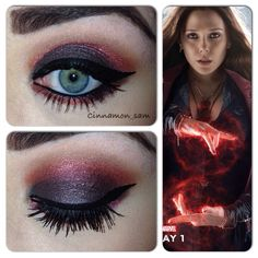 My latest Avenger themed makeup. Based on Wanda Maximoff aka The Scarlet Witch