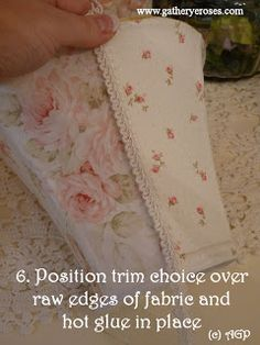 A Gathering Place: ~HOW TO MAKEOVER A LAMPSHADE - A Tutorial For You~