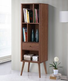 Look at this Walnut Brown Ellingham Retro Sideboard Storage Cabinet Bookcase on #zulily today!