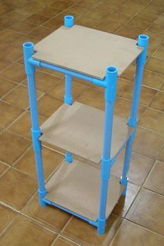 Pvc water pipe nightstand/shelves pvc pipe projects, home projects, craft projects,
