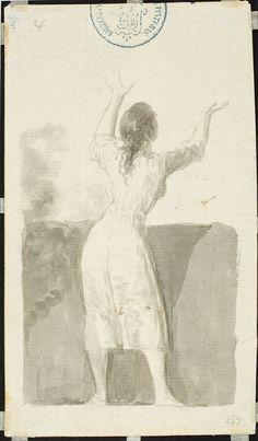 Goya en El Prado: Joven de espaldas levantando los brazos
