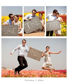 save the date..love the idea of a series of photos
