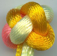 finished button knot  with no loop