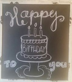 Happy Birthday Chalkboard More