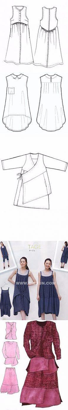 Схемы-выкройки фасонов для бохо стиля