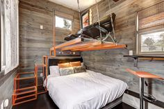 This is The Modern, a Tiny House Hotel at Tiny Digs in Portland. The build is just one of many you can stay in at Tiny Digs, but it's certainly one of the more unique! Instead of your typical…