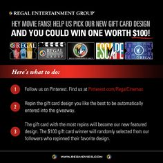 Help us pick out a new Gift Card design and you could win one worth 100 dollars!