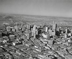 1955 Aerial View of Downtown Dallas, view from East looking toward West Dallas.  Photo courtesy imgur.com