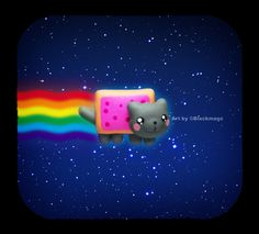 Nyan Cat Viewmastered by ~Blackmago on deviantART