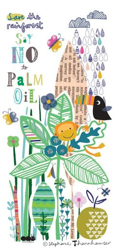 Ric-Rac: It all started with a trip to the zoo... Rainforest, jungle, toucans, orang utang, leaves, say no to palm oil