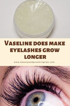 Those who have used vaseline or petroleum jelly swear that it helps grow longer and thicker eyelashes and eyebrow hair. What Helps Eyelashes Grow, Make Eyelashes Longer, Long Thick Eyelashes, How To Grow Eyebrows, Thicker Eyelashes, Natural Eyelashes, Vaseline Eyelashes, Mink Eyelashes, Help Hair Grow