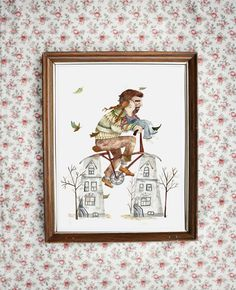Imprimé Père-Fille  illustration art giclée par MathildeCinqMars