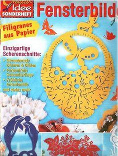 Fensterbilder filigránok papírból - Angela Lakatos - Picasa Webalbumok Easter Crafts, Frame, Diy, Decor, Picasa, Paper, Papercutting, Flowers, Crafting