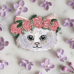 Wildflower   Co. - Kitten w/ Flower Crown Patch , $5.00 (http://www.wildflower.co/kitten-w-flower-crown-patch/)