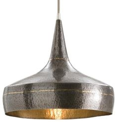 Hand hammered iron pendant light just the thing for over my table. Perfect.