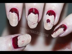 I'm Going to Let it Slide - Halloween Nail Art Tutorial - All