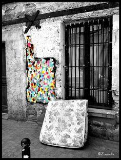 #streetart vu à #Paris10 : collage de Miké