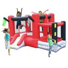 Little Raceway Bounce House with Slide
