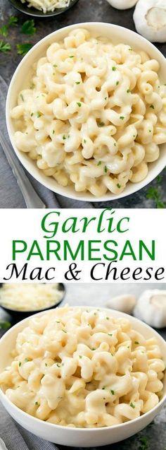 Creamy Garlic Parmesan Macaroni and Cheese