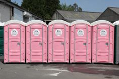 The Ideal Rent-a-Loo for a classy hen night.  Pink Luxury Loos from City Loo Hire in Swansea.