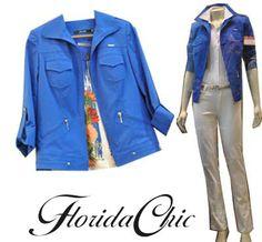 florida chic look azul campera pantalon blanco 2014 moda talles grandes del 42 al 60  locales en belgrano y avellaneda