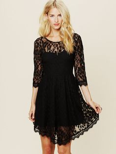 for one of my bridesmaids in antique! hooray! Free People Floral Mesh Lace Dress, $128.00