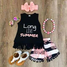 US Toddler Kid Baby Girl Clothes Top Romper Bodysuit+Headband Sunsuit Outfit Set – Outfit Ideas for Girls Baby Outfits, Girls Summer Outfits, Cute Outfits For Kids, Toddler Outfits, Dress Outfits, Little Girl Fashion, Toddler Fashion, Kids Fashion, Girl Tops Fashion