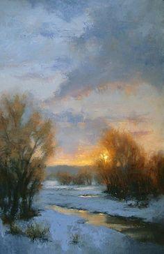 Winter Sky by Jane Hunt Oil ~ 36 x 24
