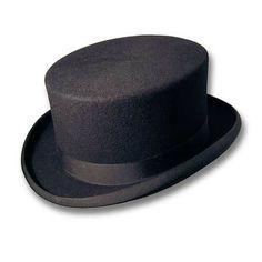CHISTERA Sombrero de copa alta y ala estrecha  sombrero de copa. Color Negra c88c9f66a08