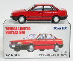 TOMICA TOMY TOMYTEC LIMITED VINTAGE NEO LV-N81b Audi 80 2.0E Europe (red)1 : 64 | eBay