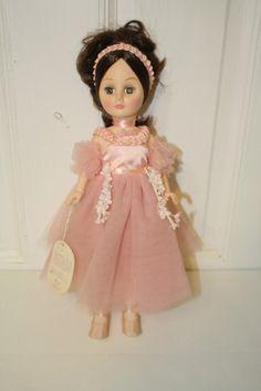 "Effanbee 'Dance Ballerina Dance' sleepy eye doll with tag 15"". $25 #1541 Green eyes, black hair"