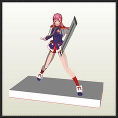 Revolutionary Girl Utena - Utena Tenjou Free Figure Papercraft Download - http://www.papercraftsquare.com/revolutionary-girl-utena-utena-tenjou-free-figure-papercraft-download.html