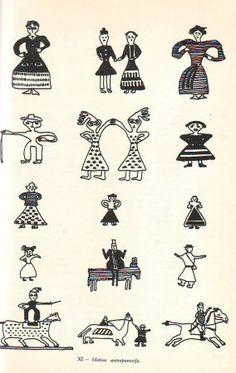 Image Romania People, Folk Embroidery, Pattern Illustration, Pebble Art, Cross Stitch Designs, Fabric Patterns, Mac, Symbols, Costume