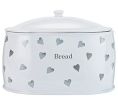 Buy HOME Hearts Stoneware Bread Bin - Grey at Argos.co.uk, visit Argos.co.uk to shop online for Bread bins, Kitchen storage, Cooking, dining and kitchen equipment, Home and garden