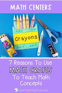 Math crafts are perfect for using with students in first grade, second grade and third grade who are working on addition, subtraction and multiplication number facts. The differentiated activities mean that your students can even work on two digit addition and subtraction or adding and subtracting three digit numbers. They align with core standards and are simple, fun, and engaging to do! Your students won't even realize they're working on their math skills. #mathactivities #math