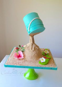 Beach gravity defying cake - For all your cake decorating supplies, please visit craftcompany.co.uk