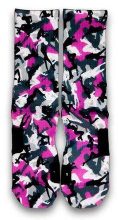 Stripper Camo Nike Custom Elite Socks