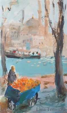 Spring in Istanbul. Acrylic.2017 by Lana Temina #istanbul #art #paintings #spring