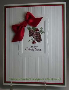 by Sharon Burkert...As The Ink Dries.  Stampin' Up! SU Looks tricky, but definitely going to try this! Classic Christmas.