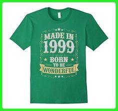 Mens Made In 1999 Birthday T-Shirt Born To Be Wonderful Medium Kelly Green - Birthday shirts (*Amazon Partner-Link)