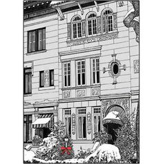 Pack-of-5-New-York-City-Christmas-Cards-Brownstone-Winter-No-x13-$10.