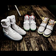 Nike Air Yeezy 1, 2 and Air Mags #Yeezy #Yeezy2