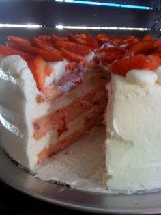 Food For Thought: The Best Strawberry Cake in the World!