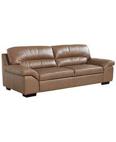 "Govanni Leather Sofa, 86""W x 39""D x 37""H"