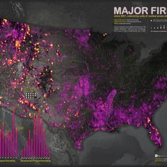 US wildfires mapped and quantified in terms of nuclear power plant output (Wired UK)
