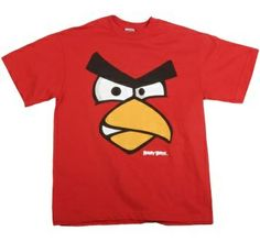 Boys Funny Face Angry Birds T-Shirt