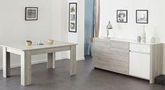 Esszimmer Mit Tisch 155 X 101 Cm Portofino Grey/ Weiss Hochglanz Woody  167 00417