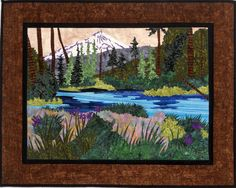 mountain landscape quilt