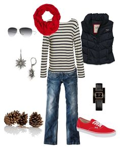 """""""outfit2"""" by inspireer ❤ liked on Polyvore featuring Pepe Jeans London, Hollister Co., R13, Opening Ceremony, Vans, Oliver Peoples, Tommy Hilfiger and Judith Jack"""