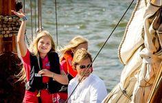 Prinses Amalia afgelopen weekend tijdens Sail